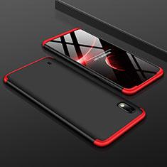 Coque Plastique Mat Protection Integrale 360 Degres Avant et Arriere Etui Housse pour Samsung Galaxy A10 Rouge et Noir