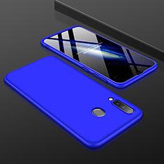 Coque Plastique Mat Protection Integrale 360 Degres Avant et Arriere Etui Housse pour Samsung Galaxy A30 Bleu