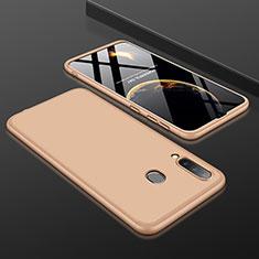 Coque Plastique Mat Protection Integrale 360 Degres Avant et Arriere Etui Housse pour Samsung Galaxy A30 Or