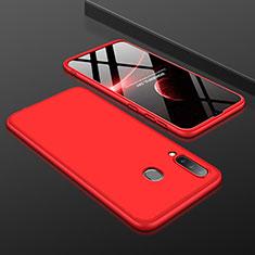Coque Plastique Mat Protection Integrale 360 Degres Avant et Arriere Etui Housse pour Samsung Galaxy A30 Rouge