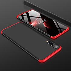 Coque Plastique Mat Protection Integrale 360 Degres Avant et Arriere Etui Housse pour Samsung Galaxy A30S Rouge et Noir