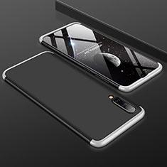 Coque Plastique Mat Protection Integrale 360 Degres Avant et Arriere Etui Housse pour Samsung Galaxy A50 Argent et Noir