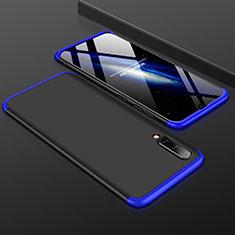 Coque Plastique Mat Protection Integrale 360 Degres Avant et Arriere Etui Housse pour Samsung Galaxy A50 Bleu et Noir