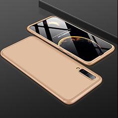Coque Plastique Mat Protection Integrale 360 Degres Avant et Arriere Etui Housse pour Samsung Galaxy A50 Or