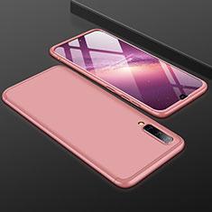 Coque Plastique Mat Protection Integrale 360 Degres Avant et Arriere Etui Housse pour Samsung Galaxy A50 Or Rose