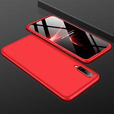 Coque Plastique Mat Protection Integrale 360 Degres Avant et Arriere Etui Housse pour Samsung Galaxy A50 Rouge