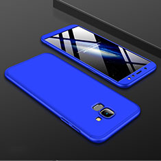 Coque Plastique Mat Protection Integrale 360 Degres Avant et Arriere Etui Housse pour Samsung Galaxy A6 (2018) Dual SIM Bleu