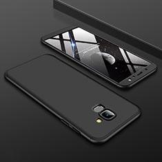 Coque Plastique Mat Protection Integrale 360 Degres Avant et Arriere Etui Housse pour Samsung Galaxy A6 (2018) Dual SIM Noir