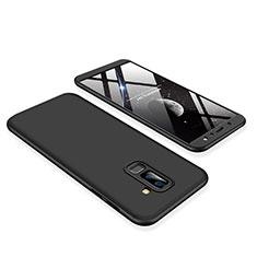 Coque Plastique Mat Protection Integrale 360 Degres Avant et Arriere Etui Housse pour Samsung Galaxy A6 Plus Noir