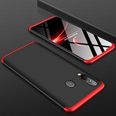 Coque Plastique Mat Protection Integrale 360 Degres Avant et Arriere Etui Housse pour Samsung Galaxy A60 Rouge et Noir