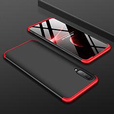 Coque Plastique Mat Protection Integrale 360 Degres Avant et Arriere Etui Housse pour Samsung Galaxy A70 Rouge et Noir
