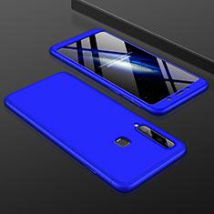 Coque Plastique Mat Protection Integrale 360 Degres Avant et Arriere Etui Housse pour Samsung Galaxy A9s Bleu