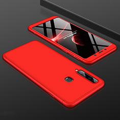 Coque Plastique Mat Protection Integrale 360 Degres Avant et Arriere Etui Housse pour Samsung Galaxy A9s Rouge