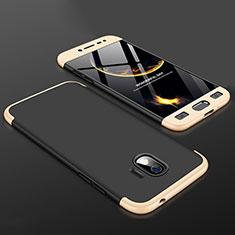Coque Plastique Mat Protection Integrale 360 Degres Avant et Arriere Etui Housse pour Samsung Galaxy Grand Prime Pro (2018) Or et Noir