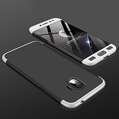 Coque Plastique Mat Protection Integrale 360 Degres Avant et Arriere Etui Housse pour Samsung Galaxy J2 Pro (2018) J250F Argent
