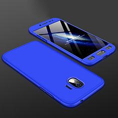 Coque Plastique Mat Protection Integrale 360 Degres Avant et Arriere Etui Housse pour Samsung Galaxy J2 Pro (2018) J250F Bleu