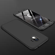 Coque Plastique Mat Protection Integrale 360 Degres Avant et Arriere Etui Housse pour Samsung Galaxy J2 Pro (2018) J250F Noir