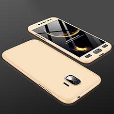 Coque Plastique Mat Protection Integrale 360 Degres Avant et Arriere Etui Housse pour Samsung Galaxy J2 Pro (2018) J250F Or