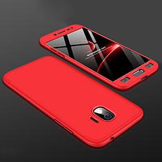 Coque Plastique Mat Protection Integrale 360 Degres Avant et Arriere Etui Housse pour Samsung Galaxy J2 Pro (2018) J250F Rouge