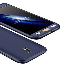 Coque Plastique Mat Protection Integrale 360 Degres Avant et Arriere Etui Housse pour Samsung Galaxy J5 (2017) Duos J530F Bleu