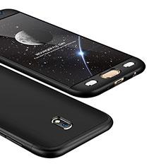 Coque Plastique Mat Protection Integrale 360 Degres Avant et Arriere Etui Housse pour Samsung Galaxy J5 (2017) Duos J530F Noir