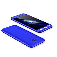 Coque Plastique Mat Protection Integrale 360 Degres Avant et Arriere Etui Housse pour Samsung Galaxy J7 Pro Bleu
