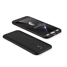 Coque Plastique Mat Protection Integrale 360 Degres Avant et Arriere Etui Housse pour Samsung Galaxy J7 Pro Noir