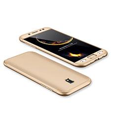 Coque Plastique Mat Protection Integrale 360 Degres Avant et Arriere Etui Housse pour Samsung Galaxy J7 Pro Or