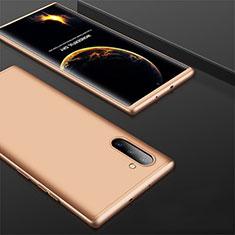 Coque Plastique Mat Protection Integrale 360 Degres Avant et Arriere Etui Housse pour Samsung Galaxy Note 10 Or