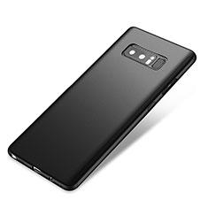 Coque Plastique Mat Protection Integrale 360 Degres Avant et Arriere Etui Housse pour Samsung Galaxy Note 8 Duos N950F Noir