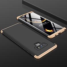 Coque Plastique Mat Protection Integrale 360 Degres Avant et Arriere Etui Housse pour Samsung Galaxy Note 9 Or et Noir