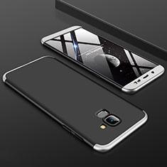 Coque Plastique Mat Protection Integrale 360 Degres Avant et Arriere Etui Housse pour Samsung Galaxy On6 (2018) J600F J600G Argent