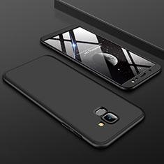 Coque Plastique Mat Protection Integrale 360 Degres Avant et Arriere Etui Housse pour Samsung Galaxy On6 (2018) J600F J600G Noir