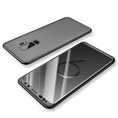 Coque Plastique Mat Protection Integrale 360 Degres Avant et Arriere Etui Housse pour Samsung Galaxy S9 Plus Noir
