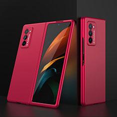 Coque Plastique Mat Protection Integrale 360 Degres Avant et Arriere Etui Housse pour Samsung Galaxy Z Fold2 5G Rouge