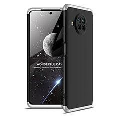 Coque Plastique Mat Protection Integrale 360 Degres Avant et Arriere Etui Housse pour Xiaomi Mi 10T Lite 5G Argent et Noir