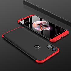 Coque Plastique Mat Protection Integrale 360 Degres Avant et Arriere Etui Housse pour Xiaomi Mi 6X Rouge et Noir