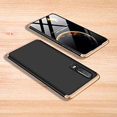 Coque Plastique Mat Protection Integrale 360 Degres Avant et Arriere Etui Housse pour Xiaomi Mi 9 Or et Noir