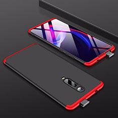 Coque Plastique Mat Protection Integrale 360 Degres Avant et Arriere Etui Housse pour Xiaomi Mi 9T Pro Rouge et Noir