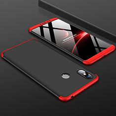Coque Plastique Mat Protection Integrale 360 Degres Avant et Arriere Etui Housse pour Xiaomi Mi Max 3 Rouge et Noir