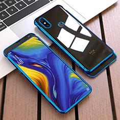 Coque Plastique Mat Protection Integrale 360 Degres Avant et Arriere Etui Housse pour Xiaomi Mi Mix 3 Bleu