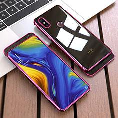 Coque Plastique Mat Protection Integrale 360 Degres Avant et Arriere Etui Housse pour Xiaomi Mi Mix 3 Rouge