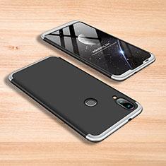 Coque Plastique Mat Protection Integrale 360 Degres Avant et Arriere Etui Housse pour Xiaomi Mi Play 4G Argent