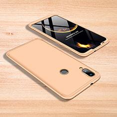 Coque Plastique Mat Protection Integrale 360 Degres Avant et Arriere Etui Housse pour Xiaomi Mi Play 4G Or