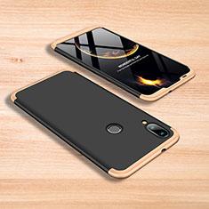 Coque Plastique Mat Protection Integrale 360 Degres Avant et Arriere Etui Housse pour Xiaomi Mi Play 4G Or et Noir