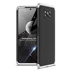 Coque Plastique Mat Protection Integrale 360 Degres Avant et Arriere Etui Housse pour Xiaomi Poco X3 NFC Argent et Noir