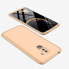 Coque Plastique Mat Protection Integrale 360 Degres Avant et Arriere Etui Housse pour Xiaomi Pocophone F1 Or