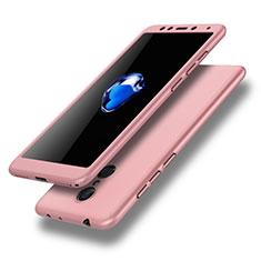 Coque Plastique Mat Protection Integrale 360 Degres Avant et Arriere Etui Housse pour Xiaomi Redmi 5 Rose