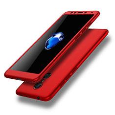 Coque Plastique Mat Protection Integrale 360 Degres Avant et Arriere Etui Housse pour Xiaomi Redmi 5 Rouge