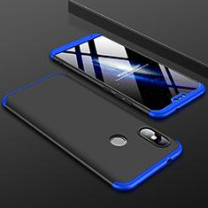 Coque Plastique Mat Protection Integrale 360 Degres Avant et Arriere Etui Housse pour Xiaomi Redmi 6 Pro Bleu et Noir